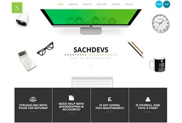 Sachdev Accountants - Website by Big Clould Creative Web Design in Stratford upon Avon