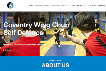 WCCW Kung Fu - Website by Big Clould Creative Web Design in Stratford upon Avon