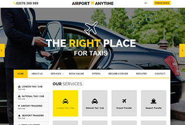 Airport Anytime - Website by Big Clould Creative Web Design in Stratford upon Avon
