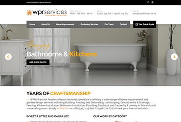 Property Repairs Warwick - Website by Big Clould Creative Web Design in Stratford upon Avon