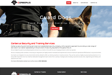 Cerberus Security and Training Services - Website by Big Clould Creative Web Design in Stratford upon Avon