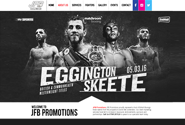 JFB Sports - Website by Big Clould Creative Web Design in Stratford upon Avon