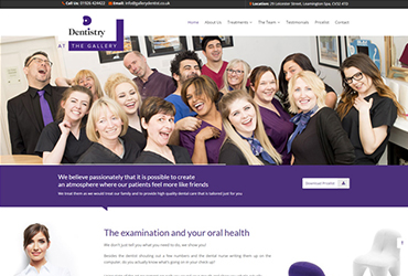 The Dentistry Leamington Spa - Website by Big Clould Creative Web Design in Stratford upon Avon