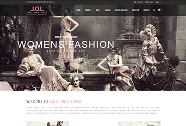 LOL - Label once loved - Website by Big Clould Creative Web Design in Stratford upon Avon