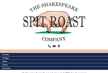Stratford Spit Roast Company - Website by Big Clould Creative Web Design in Stratford upon Avon